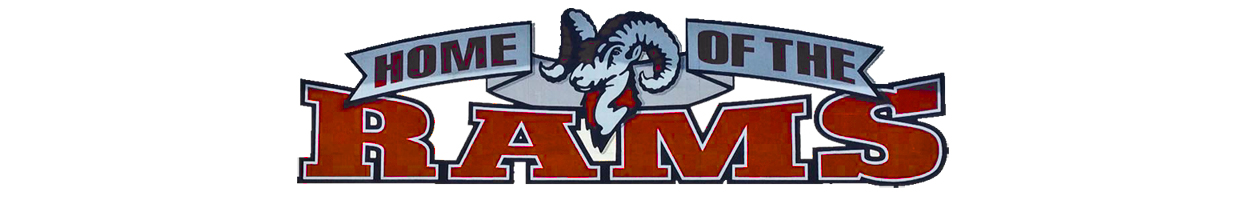 Home of the Rams white bg image